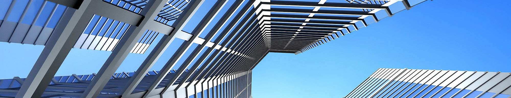 Office building on a background of the blue sky